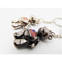Girls Gifts Aluminum Alloy Metal Souvenir , Metal Teddy Bear Keyring For Ornaments