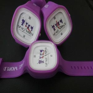 China Silicone Kids Jelly Wrist Watches Printing Logo For Christmast Gift on sale