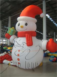 China hot sell inflatable Christmas snowman decoration, giant inflatable christmas snowman for ornaments on sale
