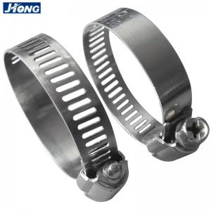 China German Type Hose Clamps, Stainless Steel, Band Width