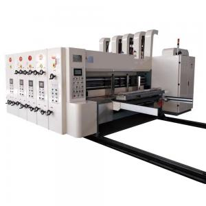 China Three Color Corrugated Box Printing Machine 380v Long Service Life Smooth Running on sale