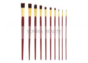 China Long Handle Paint Body Makeup Brush Artist Grade Round Flat Filbert Tips on sale