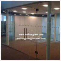 China frameless office glass wall