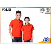 Cotton / Polyester Golf Polo Shirt Knitted Mens Custom Printed Polo Shirts