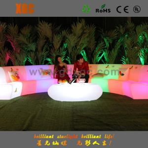 China Waterproof IP54 Glowing LED Sofa for bar and home in round shape on sale