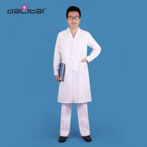 China Long Sleeve Cotton Male Doctor Uniform White Mens Medical Scrubs on sale