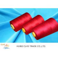 China Super Bright Industrial Sewing Thread , Dyed Poly Sewing Thread Low Shrinkage on sale