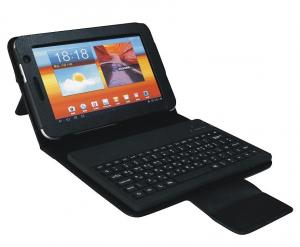 China Waterproof Silicon Wireless P6800 Samsung Galaxy Tab Bluetooth Keyboard CE FCC ROHS on sale