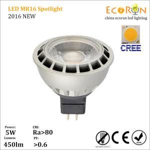 China cree cob mr16 12v 5w 7w led spot light bulb led light 12v 80lm/w ra>90 with ce rohs on sale