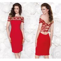 Red Off Shoulder Evening Dresses