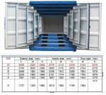 Railway Steel Mini Shipping Container 7ft For Storage Transportion Cargo