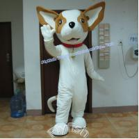 adult white dog costume