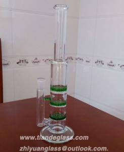 China High-quality Cheap Chinese Popular glass bongs 3 honeycomb perc glass water pipe Wp507 on sale