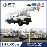Rotary Truck Mounted Water Well Drilling Rig Machine on Truck DFC-350A for hard rock