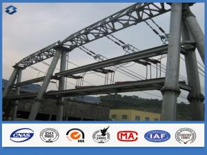 China Hot dip Galvanized Overhead Line Substation Structure Electric Steel Pole on sale