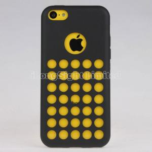 China Dots Design Colorful Flexible TPU Case For iPhone 5C on sale