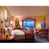 High End Oak Wood  Hotel Style Bedroom Furniture With Mirror Custom