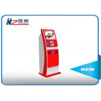 China Electronic Multi Interactive Touch Screen Kiosk LED Digital Signage , Red on sale
