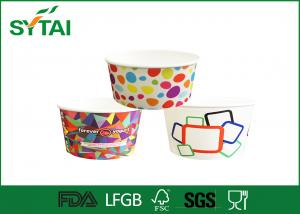 China Small Custom Printed Frozen Yogurt & Ice Cream Paper Cups with Lids , Paper Bowls 2oz on sale