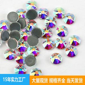 China MC Flat Back Crystal Hot fix Loose Rhinestone 8*8 Sided AB Color Bags Shoes Trims Accessories Garment Jewelry Studs on sale