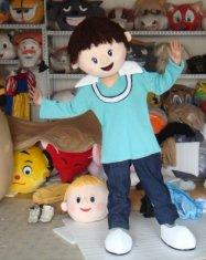 Quality adult plush customized cartoon girl mascot costumes for party for sale