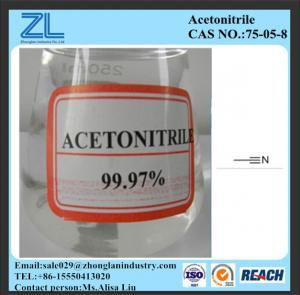 China CAS NO.:75-05-8,Acetonitrile china origin 99.99%min on sale