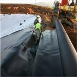 5.8M width black color 40mil HDPE  pond liners for Impermeable Geomembrane by sincere factory price supply