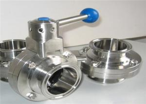 China Sanitary Inox 304 316 Heavy Duty Butterfly Valves With Plastic Handle on sale