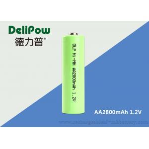 China 2800mAh 1.2 V Nimh Rechargeable Batteries , Rechargeable Nimh Batteries Aa OEM Acceptable on sale