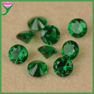 China AAA grade 5.5mm round brilliant cut lab created dark green spinel nano semi precious stone on sale