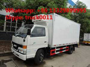 China JMC 5ton cold room truck for fresh eggs and vegetables for sale, JMC brand 3-5tons frozen van truck for frozen seafood on sale