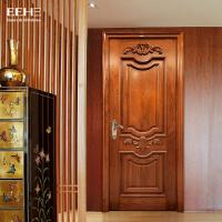 Safety Residential Solid Hardwood Internal Doors With Handmade Carved Flowers