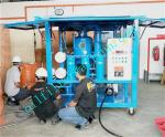 ZYD-I Transformer Oil Regeneration,Weather-proof insulation oil purification plant,Semi-enclosed oil purifier,bule color