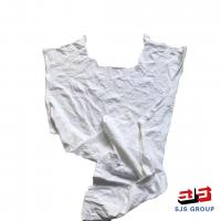 China Factory Direct Sale Industrial Wiping White Cotton T-Shirt 20 KG Rags on sale