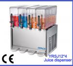 Four Tanks Fresh Juice Dispenser Machine , Restaurant / Party Beverage Dispenser