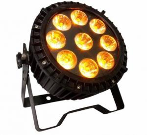 China Outdoor Waterproof 9pcs*18w 6in1 RGBWA UV Led  High Quality Wash Slim Par Light on sale