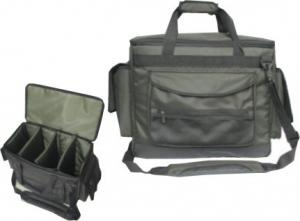 China OEM Soft Fully padded Fishing Tackle Bag with main compartment on sale