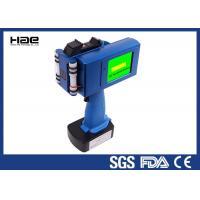 Barcode / QR Code Handheld Inkjet Coder Blue Color With 5 Inch LED Display