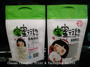 China Moisture Proof UV Dried Fruit Bags Curved Original File Design on sale
