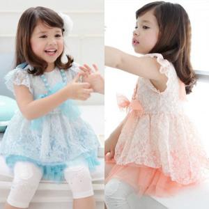 China 2014 Fashion new girls dress sweet princess dress wholesale Children clothing 5pcs/lot on sale