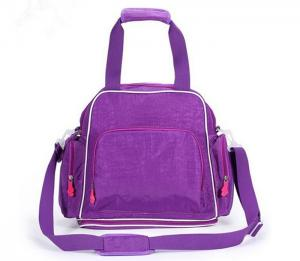 China Purple Washable Diaper Bag Essentials TPDB007 For Small Baby and Girls on sale