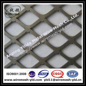 China 1-1/2 #16 F carbon steel Flattened expanded metal wire mesh,metal sheet on sale