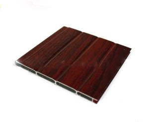China Wood Grain Extruded Aluminium Door Profiles Length Customized With Transfer Printing on sale
