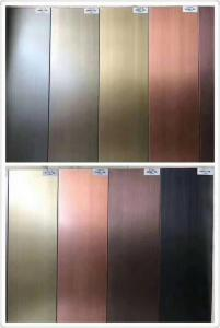 China Antique Bronze Brass Hairline Stainless Steel Color Sheets Manufacturer In Foshan China on sale