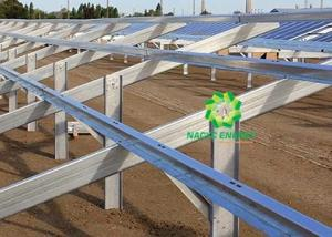China Large Scale Utility Solar Ground Mount System Anodized Aluminum 6005-T5 Material on sale