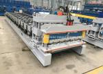 China Casstte Type Steel Glazed Tile Roll Forming Machine With Hydraulic Control System wholesale