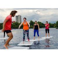 Light Grey Floating Water Yoga Mat For Woman , Lightweight Sup Yoga Mat