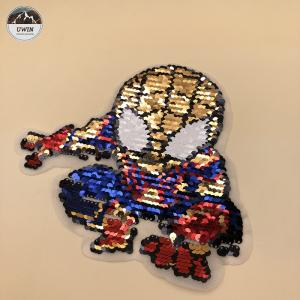China Eco Friendly Material Embroidery Designs Patches With Flip / Flat / Printing on sale