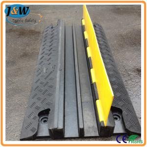 China Yellow Jacket Rubber Cable Protector Ramp / Cable Cover / Cable Tray 2 Channel on sale