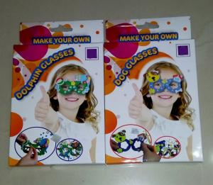 China make your own glasses DIY EVA crafts on sale
